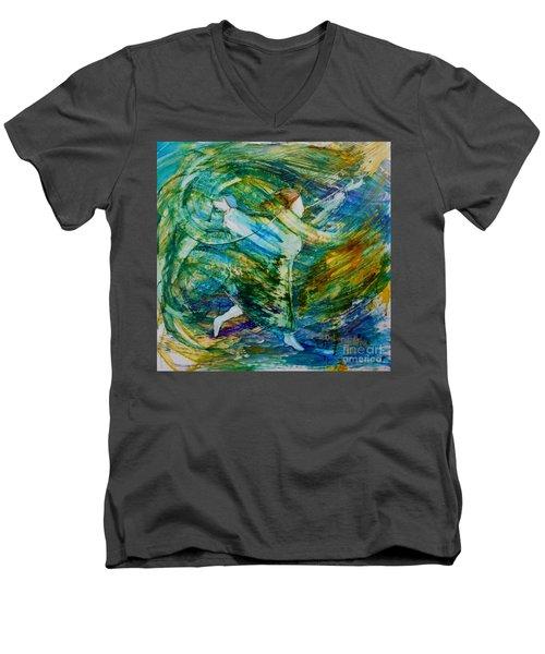 You Make Me Brave Men's V-Neck T-Shirt