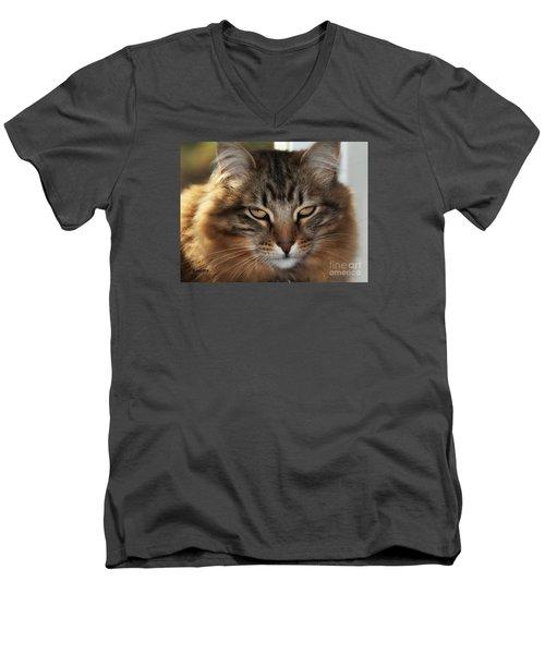 You Think Men's V-Neck T-Shirt by Shari Nees