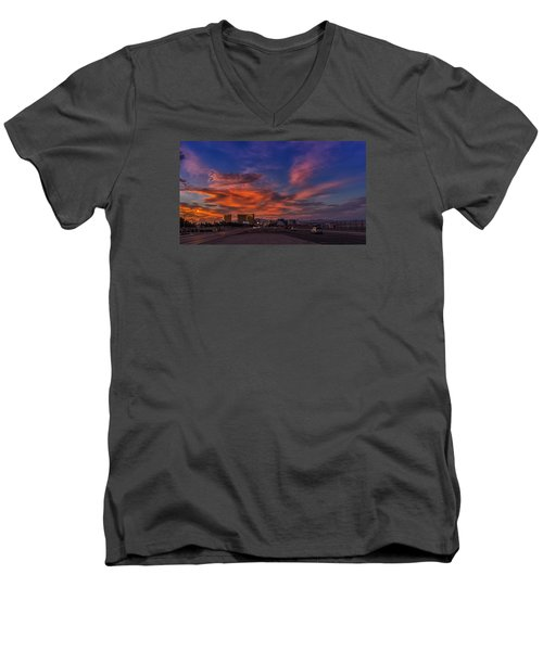 Men's V-Neck T-Shirt featuring the photograph You'll Never Walk Alone by Michael Rogers