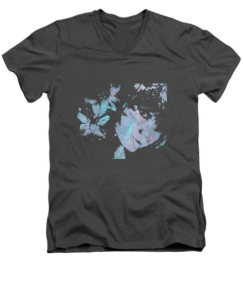 You'll See - Blue Men's V-Neck T-Shirt by Marco Paludet