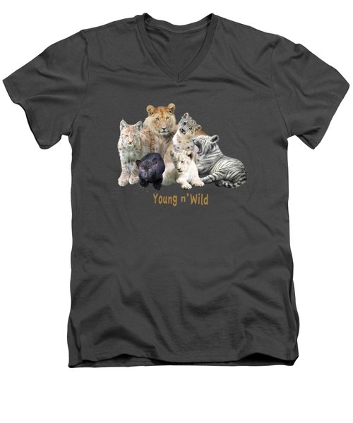 Young And Wild Men's V-Neck T-Shirt