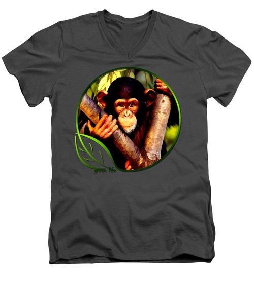 Young Chimpanzee Men's V-Neck T-Shirt