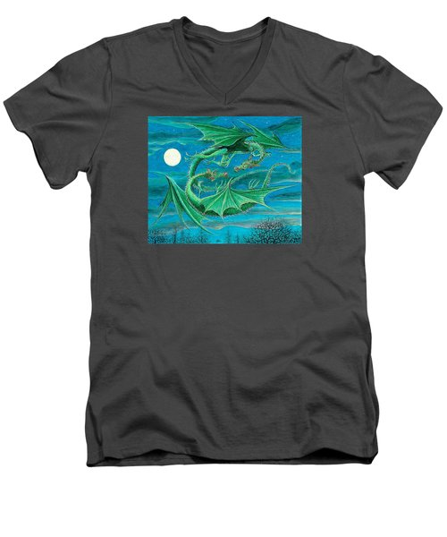 Young Dragons Frisk Men's V-Neck T-Shirt by Charles Cater