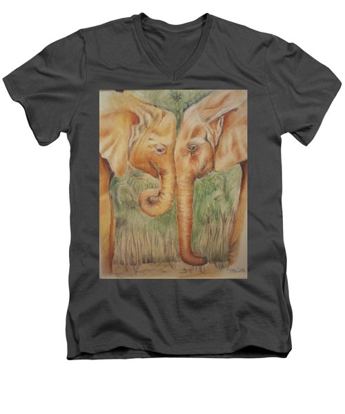Young Elephants Men's V-Neck T-Shirt