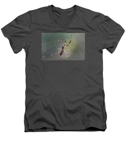 Young Golden Silk Female Men's V-Neck T-Shirt
