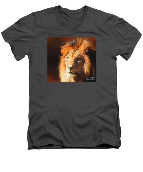 Young King Men's V-Neck T-Shirt by Suzanne Handel