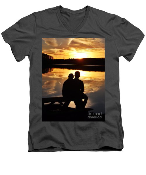 Young Love And Sunsets Men's V-Neck T-Shirt