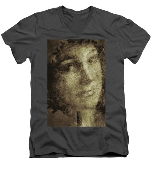 Young Mother Nature Digital Painting Men's V-Neck T-Shirt