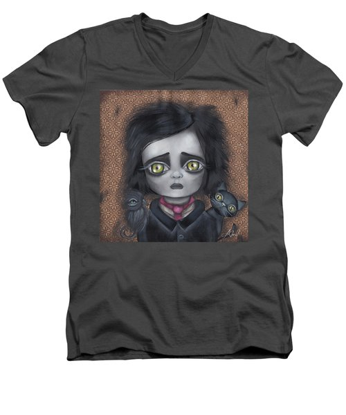 Young Poe Men's V-Neck T-Shirt