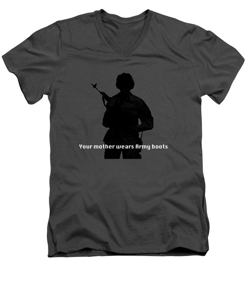 Your Mother Wears Army Boots Men's V-Neck T-Shirt