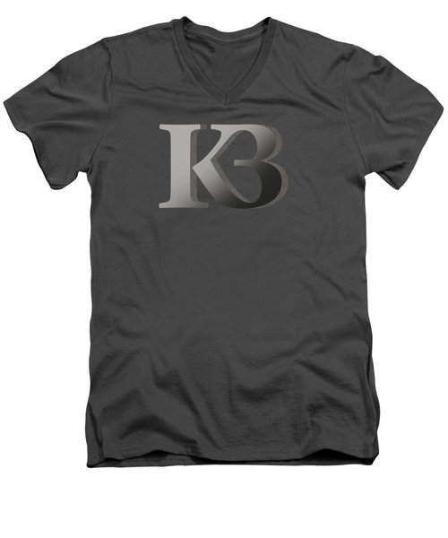 Your Name - K B Monogram 2 Men's V-Neck T-Shirt