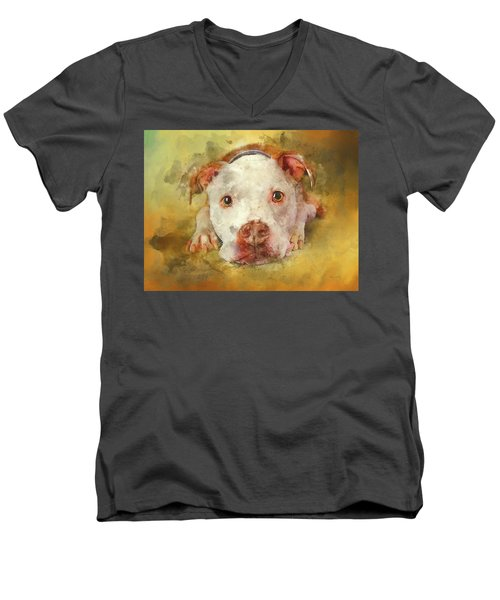 Men's V-Neck T-Shirt featuring the photograph You're My Favorite Human by Bellesouth Studio