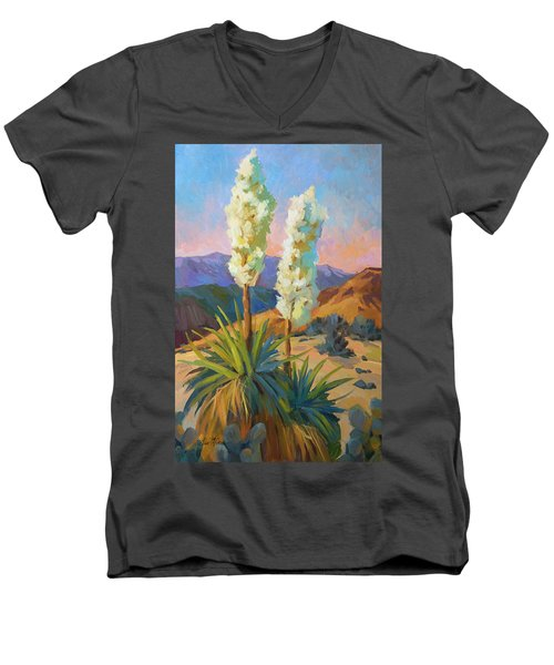 Yuccas Men's V-Neck T-Shirt by Diane McClary