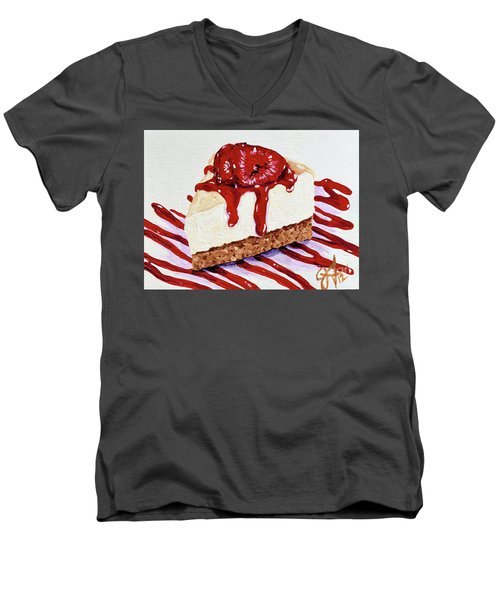 Men's V-Neck T-Shirt featuring the painting Yumminess by Jackie Carpenter