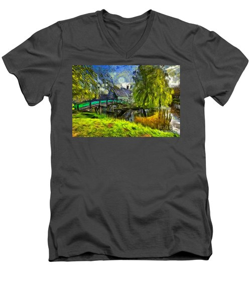 Zaanse Schans Men's V-Neck T-Shirt