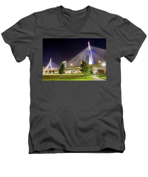 Zakim Bridge Men's V-Neck T-Shirt