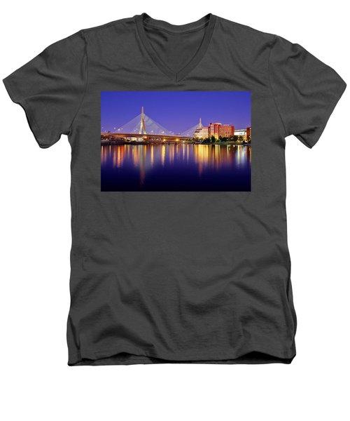 Zakim Twilight Men's V-Neck T-Shirt by Rick Berk