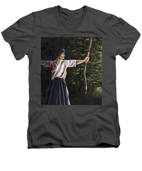 Zanshin Men's V-Neck T-Shirt