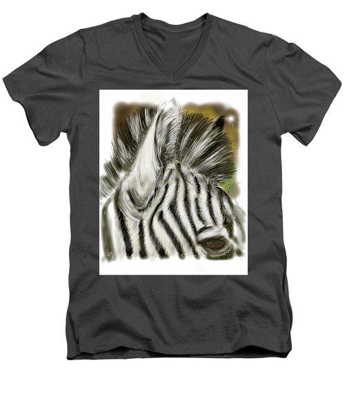 Zebra Digital Men's V-Neck T-Shirt