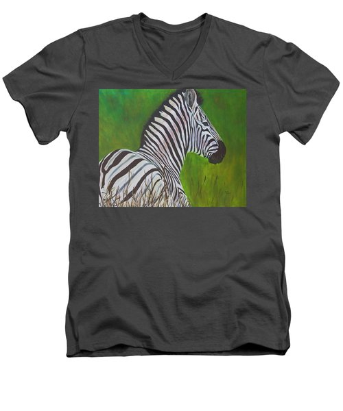 Zebra Men's V-Neck T-Shirt