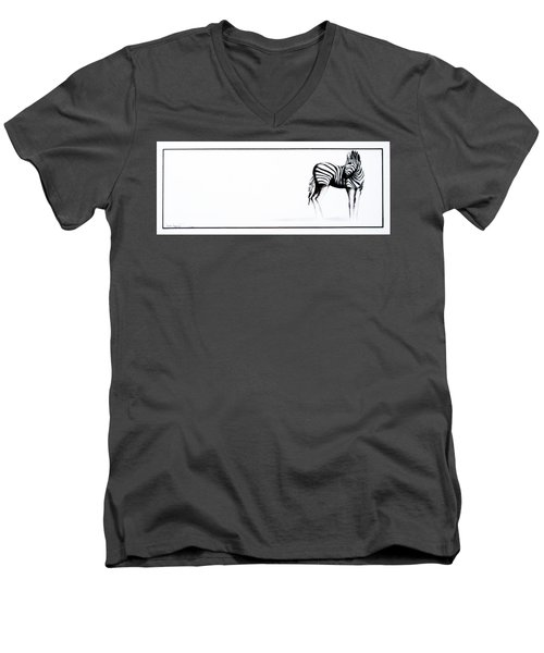 Zebra3 Men's V-Neck T-Shirt