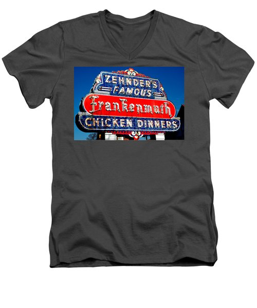 Zehnder's Frankenmuth Michigan Men's V-Neck T-Shirt
