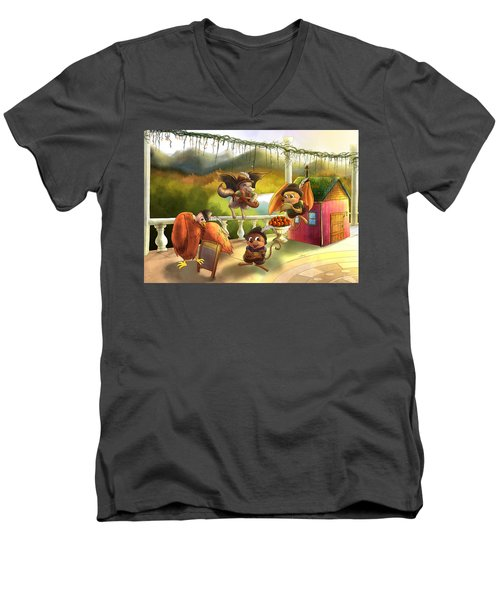 Zeke Cedric Alfred And Polly Men's V-Neck T-Shirt