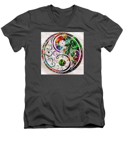 Zen Bliss Large Poster Print Men's V-Neck T-Shirt