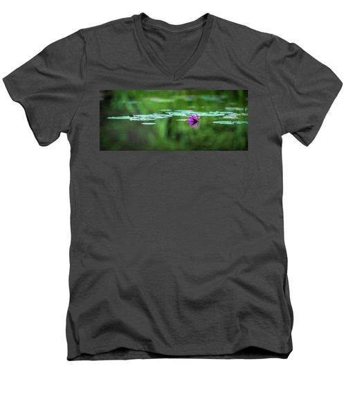 Zen Blossom Men's V-Neck T-Shirt
