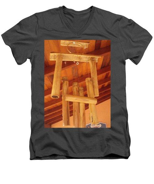 Zen By Myself Men's V-Neck T-Shirt by Beto Machado