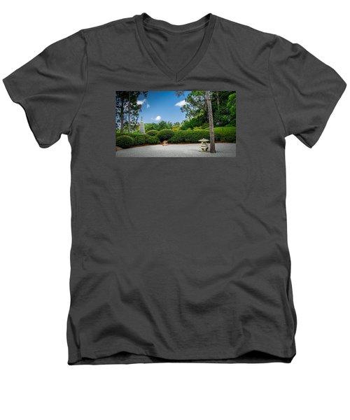 Zen Garden Men's V-Neck T-Shirt by Louis Ferreira