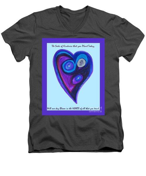 Zen Heart Vortex Men's V-Neck T-Shirt