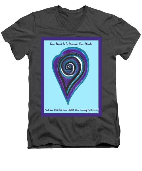 Zen Heart Vortex Wave Men's V-Neck T-Shirt