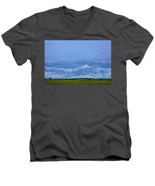 Zen Sky Men's V-Neck T-Shirt