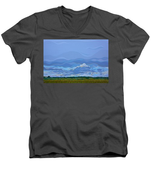 Zen Sky Men's V-Neck T-Shirt