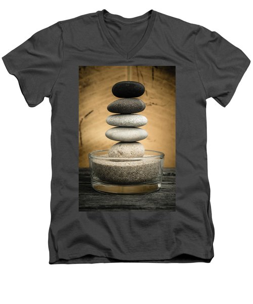 Zen Stones I Men's V-Neck T-Shirt
