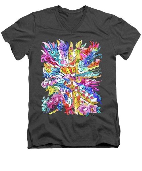 Zentangle-off The Cuff Men's V-Neck T-Shirt
