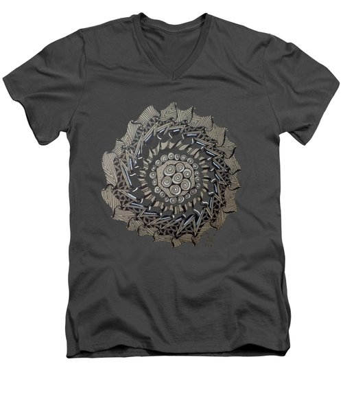 Zentangle Shield  Men's V-Neck T-Shirt