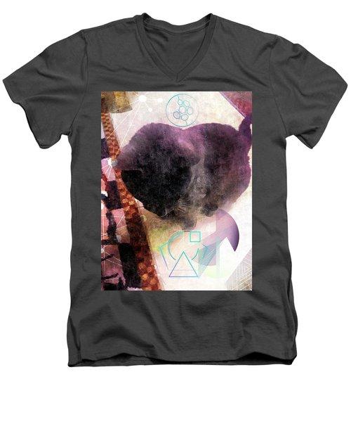Zeus Men's V-Neck T-Shirt by Karl Reid