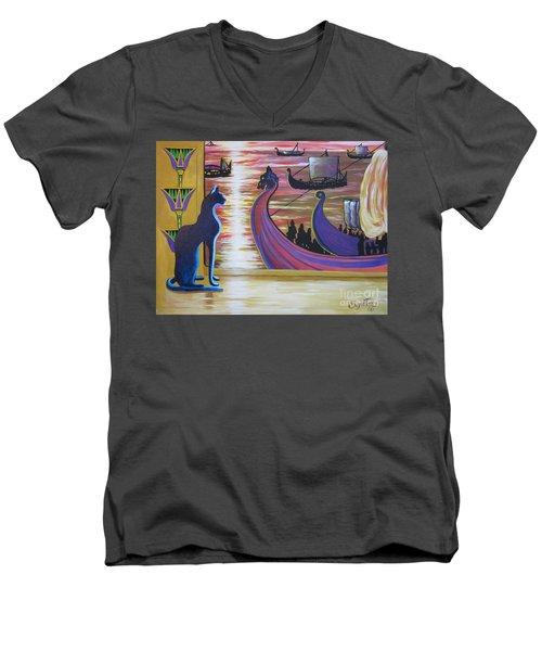 Zig Of Blaa Kattproduksjoner   Inspects The Ships Men's V-Neck T-Shirt