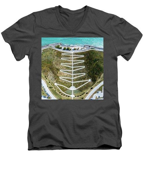 Men's V-Neck T-Shirt featuring the photograph Zig Zag by Randy Scherkenbach