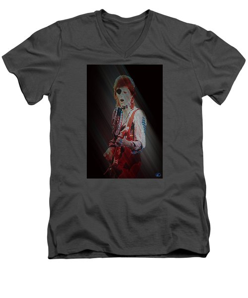 Ziggy Played Guitar Men's V-Neck T-Shirt by Kenneth Armand Johnson