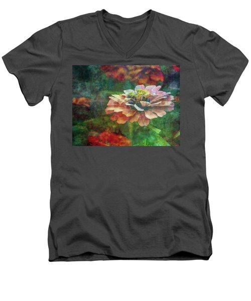 Zinnia Impression 1120 Idp_2 Men's V-Neck T-Shirt