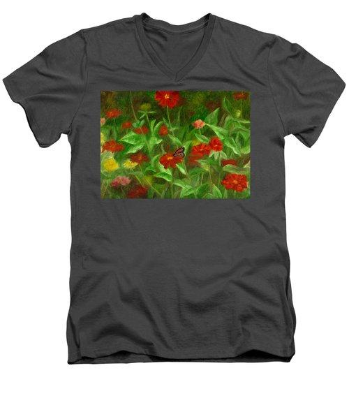 Zinnias Men's V-Neck T-Shirt
