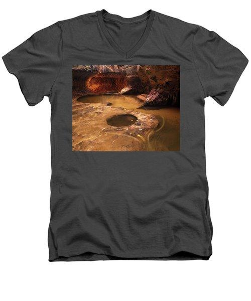 Zion  Men's V-Neck T-Shirt by Dustin LeFevre