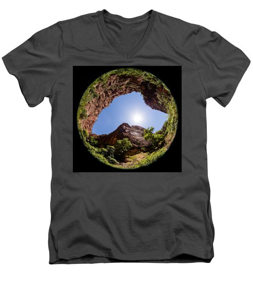 Zion Fisheye 1464 Men's V-Neck T-Shirt