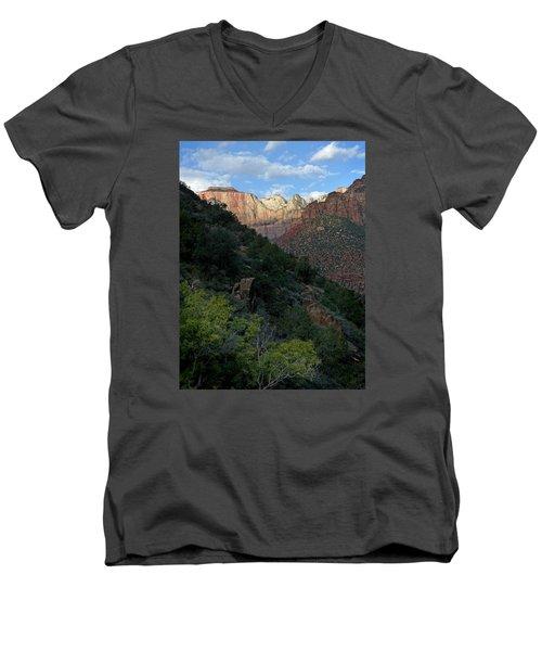 Zion National Park 20 Men's V-Neck T-Shirt by Jeff Brunton