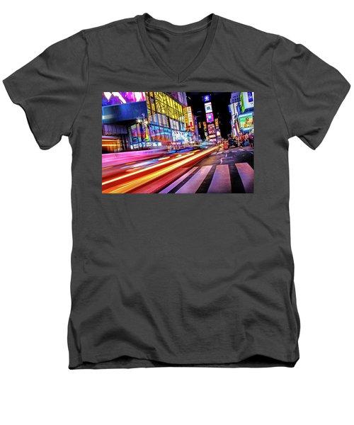 Zip Men's V-Neck T-Shirt by Az Jackson