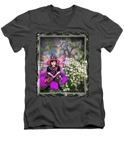 Zoey Men's V-Neck T-Shirt by Susan Kinney