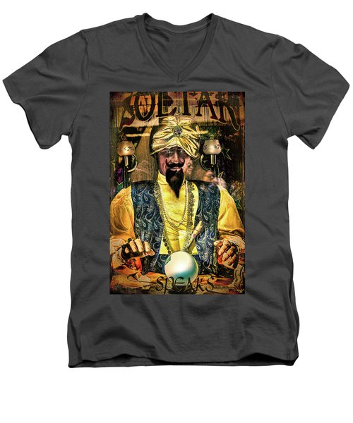 Men's V-Neck T-Shirt featuring the photograph Zoltar by Chris Lord